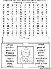 Nelson Mandela Biography Coloring Page Or Poster Makes A