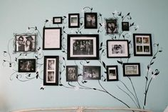 Isn't it cool if we have a photo tree in bedroom?