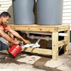 How to make a homemade rain barrel system for less than $100