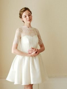 Wedding bolero, bridal lace top, wedding top, lace topper, bridal cover up, wedding jacket, shurug - style 703