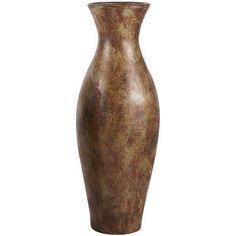 Distressed Copper Floor Vase - pier 1