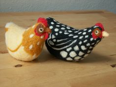 Needle Felted Hens