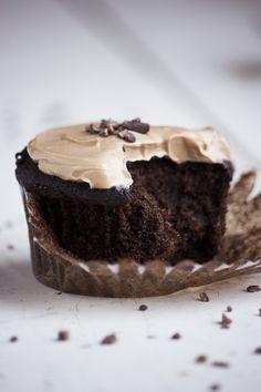 Chocolate peanut butter pumpkin cupcakes