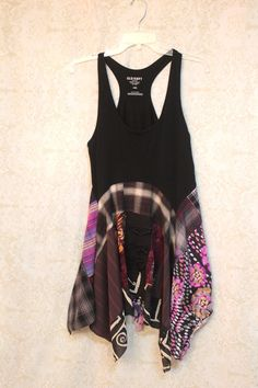 REVIVAL Women's Upcycled Boho Knit Shirt, Artwear Bohemian Chic Country Junk…