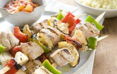Grilled Tuna Kabobs with Peach Mango Salsa //  #seafood #grilling #recipes (click through photo for recipe)