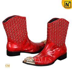 Mens Shoes Boots, Leather Boots, Red Leather, Men's Shoes, Shoe Boots, Ankle Boots, Red Cowboy Boots, Dresses With Cowboy Boots, Dress Boots