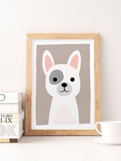 Baby Animal Art, Animal Nursery Prints, Zoo Animals, Dog Nursery Decor, Cute…