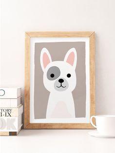 Baby Animal Art, Animal Nursery Prints, Zoo Animals, Dog Nursery Decor, Cute…