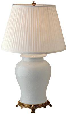 Port 68 Blanc De Chine Porcelain Jar Table Lamp