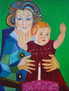Koningin Beatrix Koningin der Nederlanden door AteliervanBiesbergen, $2800,00