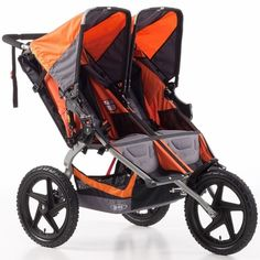 BOB Sport Utility Stroller Duallie Double Stroller - Orange