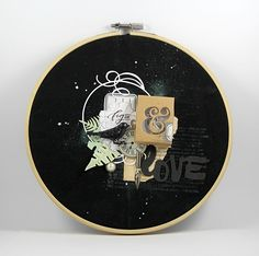 """Chez Mag de Rose Anis: Cercles à broder """"botaniques"""" Embroidery Hoop Crafts, Baby Scrapbook, Scrapbook Cards, Scrapbooking Layouts, General Crafts, Mixed Media Canvas, Paper Decorations, Diy Paper, Images"""