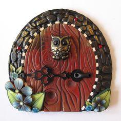 Little Owl Fairy Door by Claybykim on Etsy, $20.00
