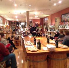 Chef Matt from Boca Bistro doing a food demo at Saratoga Olive Oil!