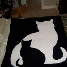 Crocheted Cat Quilt