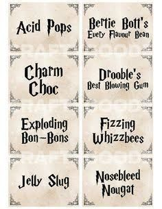 Image result for harry potter candy printables