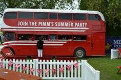 Pimms at MINT Polo in the Park.