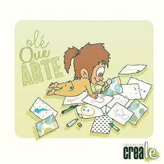 www.creale.es estudio diseño design art diseño, ilustración, paint, draw, baby art