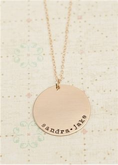 gold original necklace - Lisa Leonard (love!)