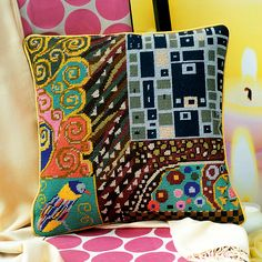 Klimt Chocolate - Ehrman Tapestry Inspired by the designs and patterns of Gustav Klimt
