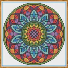 Mandala 3 Window Counted Cross Stitch by HornswoggleStore