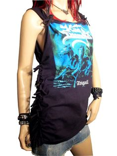 SALE Shredded  Fringed And Knotted King Diamond Band by Rebeltude, $25.00