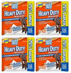 OUT 30 Count Heavy Duty XXLarge Dog Pads  4 packs * More info could be found at the image url. #DogTrainingPads