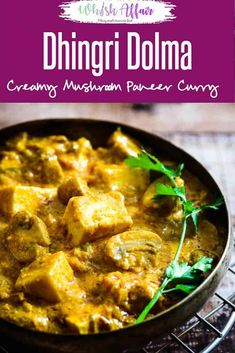 Dhingri Dolma is a mildly spiced, North Indian recipe from Awadhi cuisine. Mushroom & paneer are its main ingredients cooked in brown onion and tomato base. via - Dhingri Dolma Mushroom Recipes Indian, North Indian Recipes, Indian Food Recipes, Indian Snacks, Paneer Recipes, Veg Recipes, Vegetarian Recipes, Cooking Recipes, Delicious Recipes