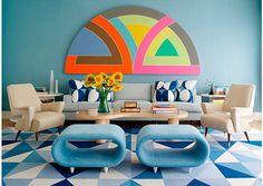 Las decoraciones azules de Anthony Baratta @decoratrixcom