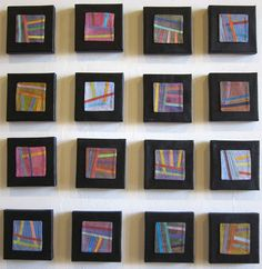 Abstract Contemporary Textile Painting / Art Quilt Lines #80-Lines #95 ©2012 Lisa Call