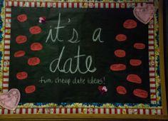 February Bulletin Board February Bulletin Boards, Ra Boards, Cheap Date Ideas, Fun, Hilarious