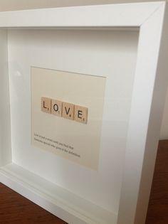 LOVE Box Frame quotes & Art