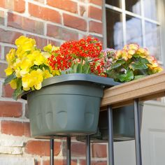The Adjustable Balcony Rail Planter - Hammacher Schlemmer