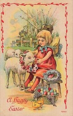 Postcard A Happy Easter Best Christmas Wishes, Merry Christmas To You, Christmas Greetings, Antique Christmas, Gold Christmas, Gold Skies, Little Girl Toys, London Christmas, Christmas Baskets