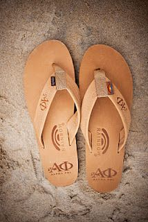 Alpha Phi rainbow sandals