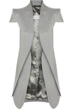 Maison Martin Margiela|Veste en laine et soie mélangées à mancherons|NET-A-PORTER.COM