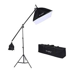 5600K Dimmable LED Video Lights with Bowens Mount Kit Continuous Output Lighting Spotlight for YouTube Vlog Studio Wedding Photography Shooting Light with Reflector GVM 80W CRI97