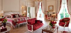 Luxury Hotels: Extravagant New Suites at Le Meurice Hotel, Paris Small Luxury Hotels, Most Luxurious Hotels, Luxury Rooms, Luxury Travel, Le Meurice, Palaces, Dorchester Collection, Hotel Branding, Parisian Style