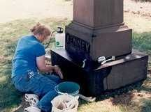 Info on cleaning tombstones safely