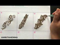 Online Mehndi Learning Videos, New Henna Mehndi Tutorials, Types of Strip Designs in Mehndi, Henna Mehndi for Beginners, How to make strip designs in Mehendi. Henna Hand Designs, Mehndi Designs Finger, Indian Henna Designs, Henna Tattoo Designs Simple, Full Hand Mehndi Designs, Mehndi Designs For Beginners, Mehndi Design Photos, Wedding Mehndi Designs, Mehndi Designs For Fingers