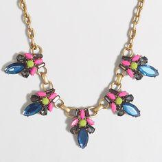 J.Crew Factory - Factory neon stone jewel necklace
