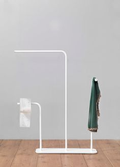Ex.t's latest towel rack, called Gru by Marco Guazzini, is such a beautiful, simple piece of design. Inspired by childhood memories of large metal cranes and structures that intersected in the sky, Marco designed a dancing towel rack that's nothing short of perfect.