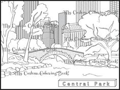 download central park coloring page - York Coloring Pages Printable