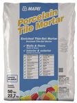 Porcelain Tile Mortar.  (See http://www.mapei.us/Grouts_chart.html   for grout colors)