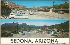 Vintage postcard of Sedona, Arizona