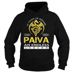 Awesome Tee PAIVA An Endless Legend (Dragon) - Last Name, Surname T-Shirt Shirts & Tees