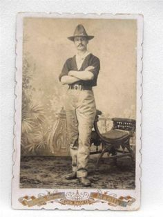 Cabinet Photo Spanish American War Rough Rider I D 'D Occupational Manila | eBay