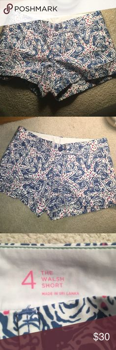 """Lilly Pulitzer """"the Walsh short"""" shorts Size 4, great condition, barely worn. Lilly Pulitzer Shorts"""
