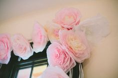 Paper Flowers I did for my wedding ceremony! Paper Flowers Diy, Barcelona Spain, French Country, Wedding Ceremony, Upcycle, Shabby Chic, Rose, Color, Pink