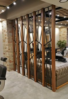 40 Beautiful Partition Wall Ideas - Engineering Discoveries - One Living Room Partition Design, Room Partition Designs, Living Room Divider, Living Room Mirrors, Living Room Decor, Partition Walls, Room Divider Walls, Home Room Design, Home Interior Design